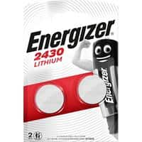 Energizer Button Cell Batteries CR2430 3V Lithium 2 Pieces