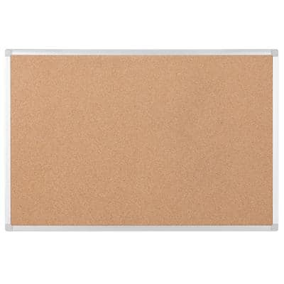 Bi-Office Wall Mountable Notice Board Earth 900 x 600mm Brown