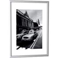 Paperflow Wall Mountable Picture Frame A4 217 x 304 mm Silver