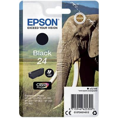 Epson 24 Original Ink Cartridge C13T24214012 Black