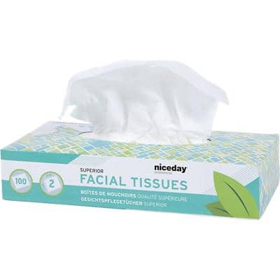 Niceday Professional Facial Tissue Box Superior 2 Ply 100 Sheets