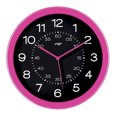 Gloss by CEP Analog Wall Clock 820G 30 x 4.5cm Pretty Pink