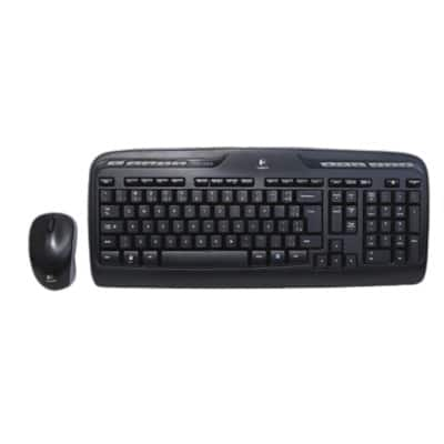 c7face4754f Logitech Mouse & Keyboard Set MK330 QWERTY Black | Viking Direct UK