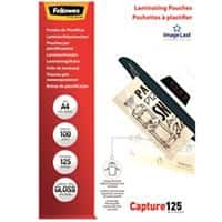 Fellowes Laminating Pouches 53074 Clear A4 21 x 0.1 x 29.7 cm 100 Pieces