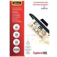 Fellowes Laminating Pouches Glossy 2 x 125 (250 Micron) A3 100 Pieces
