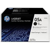 HP 05A Original Toner Cartridge CE505D Black Pack of 2