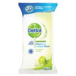 Dettol Surface Wipes Multi-Purpose lime,mint 84 pieces