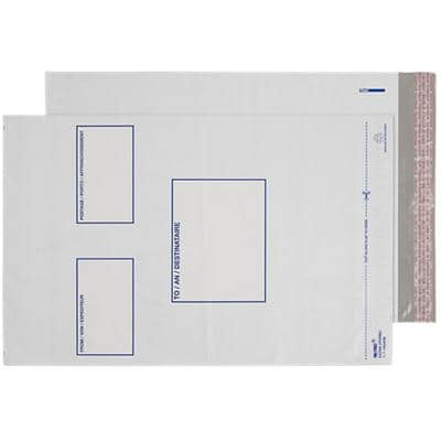 Blake White Polythene Mailing Bag Peel and Seel C3+ 330x430mm Pack 100