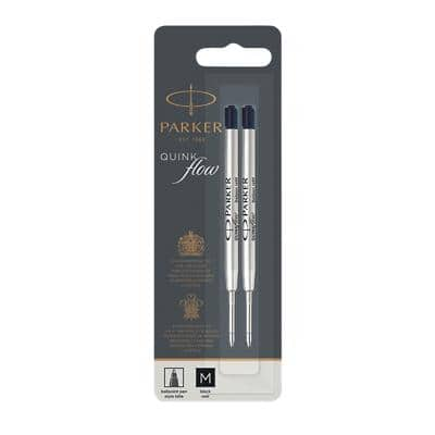 Parker Ballpoint Pen Refill 1950372 Black Pack of 2