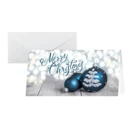 Sigel Christmas Card Delightful Christmas DL 220gsm White, Blue 25 pieces
