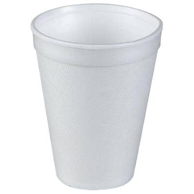 Dart Disposable Foam Cups Polystyrene 340ml White Pack of 20