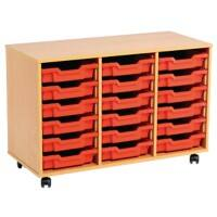 Storage Unit with 18 Trays MSU3/18 GN 700 x 495 x 81mm Beech & Green