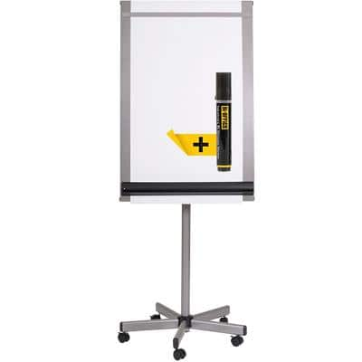 Bi-Office Freestanding Roll Up Mobile Easel with Adjustable Height EA4822016 70 x 100cm Silver