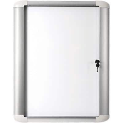 Office Depot Wall Mountable Lockable Noticeboard MasterVision 81.6 x 99.5cm White