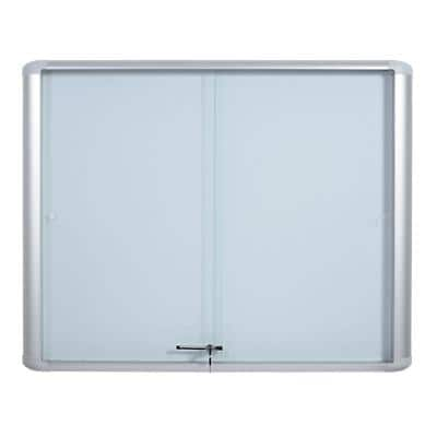Office Depot Lockable Noticeboard Mastervision White 89 x 93.1 cm