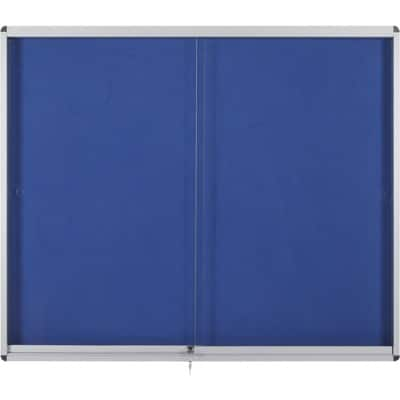 Bi-Office Display Case Exhibit Felt Blue 66.1 x 92.6 cm