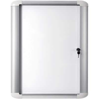 Bi-Office Wall Mountable Lockable Noticeboard MasterVision Outdoor 103.6 x 99.5cm White