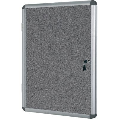 Bi-Office Display Case Enclore Indoor Felt Grey 94 x 128.8 cm