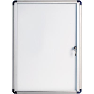 Bi-Office Wall Mountable Lockable Noticeboard Enclore Budget 71 x 66.4 cm White