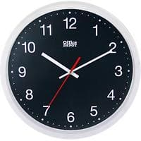 Office Depot Wall Clock Plastic Black Diameter 31.5 cm