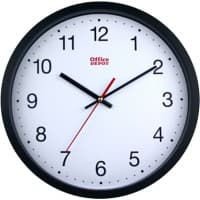 Office Depot Wall Clock RD3330B 31.5 x 5 cm White