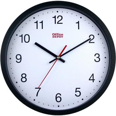 Office Depot Analog Wall Clock RD3330B 31.5 x 5cm White