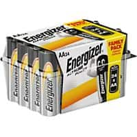 Energizer AA Alkaline Batteries Power LR6 1.5V 24 Pieces