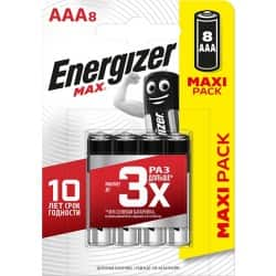 Energizer Batteries Max AAA 8 pieces