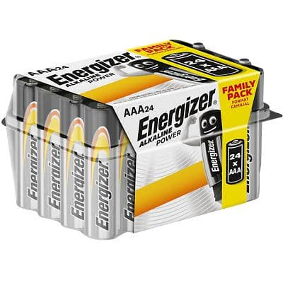 Energizer AAA Alkaline Batteries Power LR03 1.5V 24 Pieces
