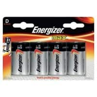 Energizer Batteries Max D 4 Pieces