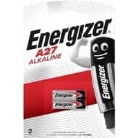 Energizer A27 Alkaline Batteries 8LR732 12V 2 Pieces