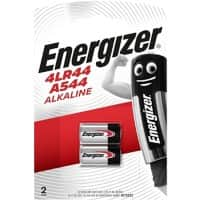 Energizer Button Cell Batteries 4LR44 6V Alkaline 2 Pieces