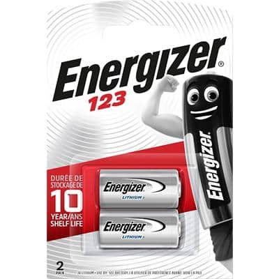 Energizer Batteries Photo 123 CR17345 3V Lithium Pack of 2