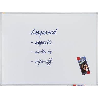 Franken Wall Mountable Magnetic Whiteboard Lacquered Steel Valueline 120 x 90 cm