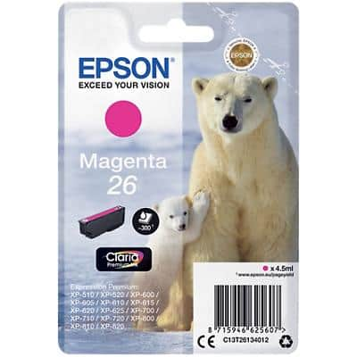 Epson 26 Original Ink Cartridge C13T26134012 Magenta