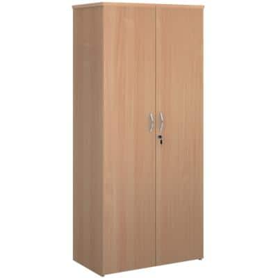 Dams International Cupboard Lockable with 4 Shelves Melamine Universal 800 x 470 x 1790mm Beech