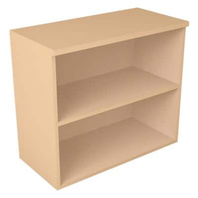 Bookcase with 2 Shelves 800 x 400 x 720 mm Maple