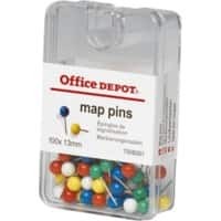 Office Depot Push Pins Assorted 100 Pieces