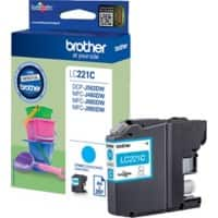 Brother LC221C Original Ink Cartridge Cyan