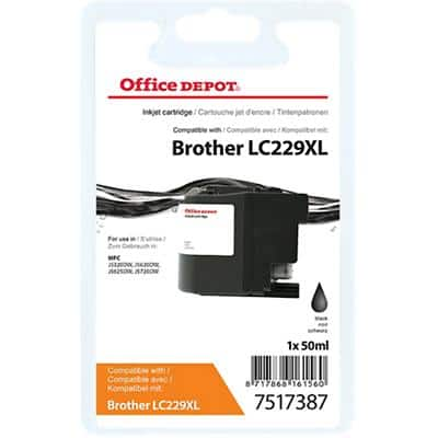 Office Depot Compatible Brother LC229XL Ink Cartridge Black