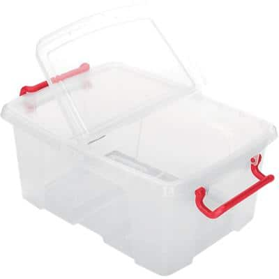 Office Depot Storage Box 12 L Transparent Plastic 29.5 x 40 x 17 cm