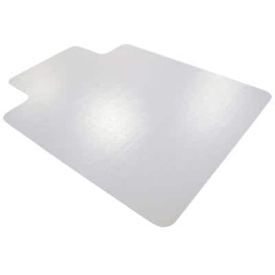 Office Depot With Lip Chair Mat Carpet PVC 2.0 mm 120 x 90cm Transparent