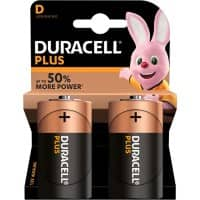 Duracell D Alkaline Batteries Plus Power MN1300 LR20 1.5V 2 Pieces