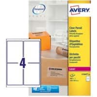 Avery L7569-25 Labels Special format Transparent 99.1 x 139 mm 25 Sheets of 4 Labels