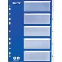 Leitz Indices A4 Blue 5 Part Perforated Polypropylene 1 to 5