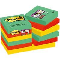Post-it Super Sticky Notes 47.6 x 47.6 mm Marrakesh Assorted Colours 12 Pads of 90 Sheets
