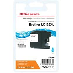 Office Depot Compatible Brother LC125XL Ink Cartridge Cyan