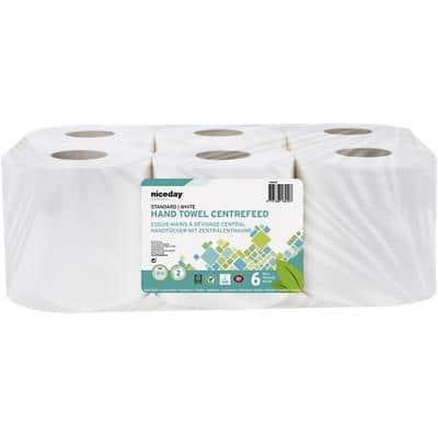 Niceday Professional Centre Pull Roll Standard 2 Ply White Pack of 6