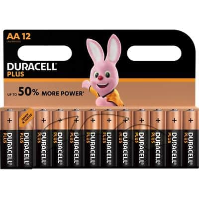 Duracell AA Alkaline Batteries Plus Power MN1500 LR6 1.5V 12 Pieces