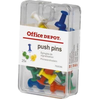 Office Depot Drawing Pins Assorted 25 Pieces